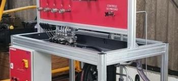Bancada de teste para cilindros hidráulicos